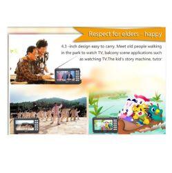 4.3inch ISDB-T voller Seg Mini-unterstützen Fernsehapparat-Empfänger-Radioset, alles Band FM, Außenantenne, Mikrofon und Ableiter-Karte, genießen Phasen-Fernsehapparat zu jeder Zeit überall