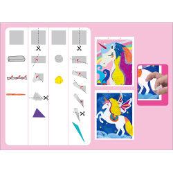 Spitzenverkaufs-Weihnachtsgeschenk-Kind spielt Abbildungen DIY Mosaik-Abbildung-Collage