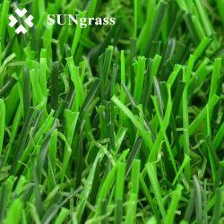 Mirada natural color verde de césped artificial para ajardinar 25mm con precios baratos