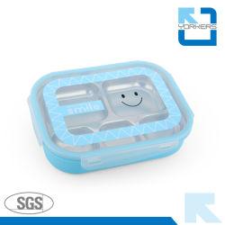 5 compartimentos, Novo Estilo Bandeja Alimentar Inoxidável Almoço Bandeja para criança
