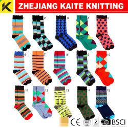 Ktd-012 Homens de lã merino vestir meias com logotipo colorido