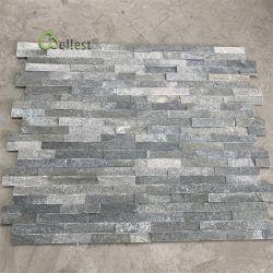 Pietra di pietra della sporgenza dell'ardesia del rivestimento della parete dell'ardesia coltivata ardesia naturale