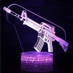 15 الأنماط 3D Game Setup البندقية مصابيح ليلية LED USB مصابيح المقامرة مصباح الطاولة غرفة نوم الألعاب CS لـ هدية عيد ميلاد الأولاد