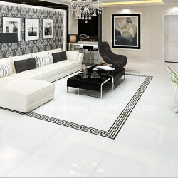 تحميل لامعة سطحيّة فائقة بيضاء مزدوجة يزجّج أرضيّة جدار خزف قرميد