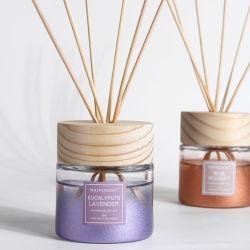 Diffusore di lusso personalizzato 100ml della canna dell'aroma con il contenitore effettuato di carta kraft E la protezione di legno