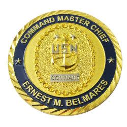 In het groot 3D Gouden van het Metaal van het Email van het Embleem van de Marine van de Douane van de Ambachten van het Metaal van de Gravure van de Herinnering van de Fabrikant Herdenkings Zachte ons de Militaire Muntstukken van de Uitdaging voor PromotieGift