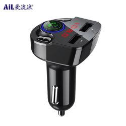 Rádio leitor de MP3 carro transmissor FM Bluetooth com o carro carregador USB Dupla