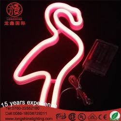 USBによって作動させる壁掛けのフラミンゴネオン夜ライトランプ