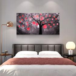 Árbol de hadas mayorista LED Metal 3D de la pintura contemporánea de artesanía artes de la pared interior la decoración del hogar