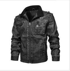 Hombres′ S PU chaquetas de cuero, lavado hombres′ S Motocicletas chaquetas de cuero, hombres′ S Chaquetas de gran tamaño, a medida al por mayor
