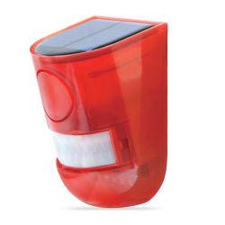 Luz estroboscópica Solar impermeable con detector de movimiento la energía solar de la luz de alarma de sonido de 110dB sirena de seguridad de la luz para la casa, granja Granero, Villa