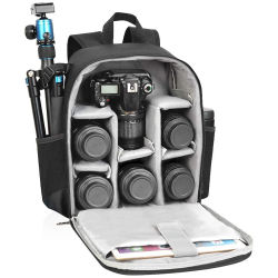 A alavanca multifuncional de grande capacidade durável com câmera digital Mala de viagem Hot-Selling mochila da câmara para a piscina