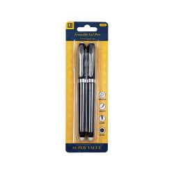 قرطاسية قلم حبر جل أسود، قلم بلاستيكي رخيص