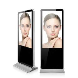 실내 지면 전시를 광고하는 서 있는 접촉 스크린 토템 LCD