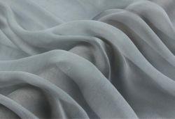 100 Tecidos de seda pura Chiffon Têxteis 5,5 m/m de Prata