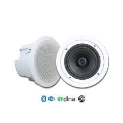 سماعات للتركيب على الحائط مزودة بتقنية WiFi 6 بوصات للصوت المنزلي مع إمكانية التركيب على الحائط BT In Pair، 50 واط، لاسلكي نشط مع مضخم صوت من الفئة D مدمج