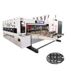 자동 2색 잉크 인쇄 슬로팅 다이 절단 기계 원형 다이 절단 기계
