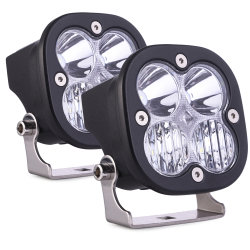 Super brillante nuevo 3 pulgadas de 40W luz LED de trabajo combinado de la barra de luces de conducción offroad LED LUZ ANTINIEBLA Faros de trabajo para la carretilla alquiler de ATV ATV SUV Jeep 4X4 Encendido automático de luces LED COCHE