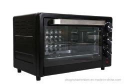 MiniTorradeira portátil de miniconvecção com robot de cozinha 25 L. Café da manhã com forno elétrico de pão de pizza