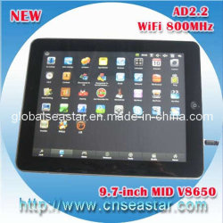 9,7 pouces Android portable MI 4 : 3 (1024*600), VIA 8650 4 Go (S-MI90VS)