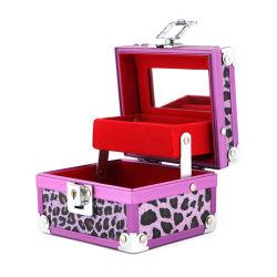 Leopard-Muster PU-Kosmetik bilden Serien-Schönheits-Aluminium-Kasten