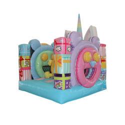 Macaron Popular hinchable PVC Unicornio de la casa de rebote (AQ01889-1)