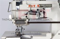 آلة تثبيت قفل مسطحة ذات إدارة مباشرة مع جهاز مرن آلة الخياطة نصف مليون ط