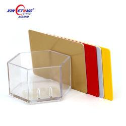Silver/Gold carte plastique vierge métalliques PVC pour l'impression de l'imprimante thermique