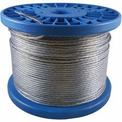 6*19+FC API, DIN, multibancos, GB galvanizado revestido de PVC &Diâmetro lisa 13mm de Cabos de aço para pendurar e uso do Fio Terra