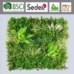 Protecção UV planta artificial para piscina PE flores de plástico verde do painel de parede 80x80cm 51336