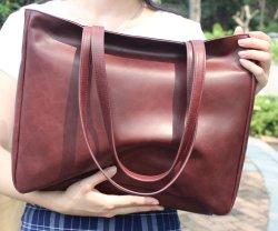 Элегантный Управление Леди ноутбук косметический деловой поездки PU женская сумка из натуральной кожи