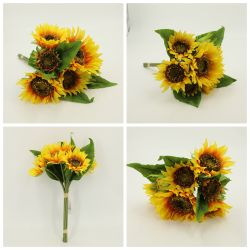 Conserva las flores de Girasol Artificial Bundle*7 Dy1-3649