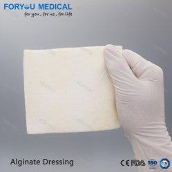 Medical pansement Alginate de sodium jetables Calcium Feuille de tampon de la plaie