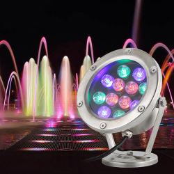 LEIDENE het met duikvermogen Licht van de Vijver, 3W, 9W, 18W, 18W, 24W, de Lamp van de Nacht IP68 gelijkstroom 12V 24V voor OpenluchtTuin, het Zwemmen, het Landschap van de Partij van de Pool