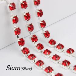 수정같은 모조 다이아몬드 짜개진 조각 정연한 기초 사슬 모조 다이아몬드 컵 사슬