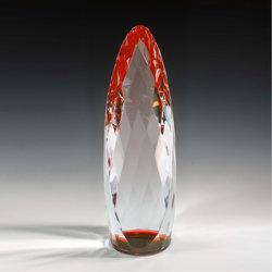 Vidro cristal Gem Prémio cilíndrico Cor Dourados troféu prêmios