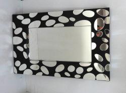 Smussato comporre lo specchio astuto dell'argento dello specchio della parete