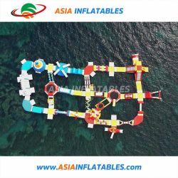 Uso comercial Jogos Brinquedos do Parque Aquático Aqua flutuantes infláveis