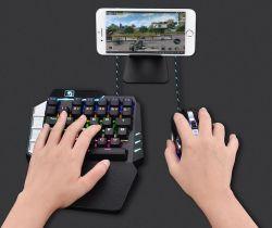 Мини игры One-Handed клавиатуры с подсветкой RGB проводные USB игры 39 Для водонепроницаемый компьютерных игр клавиатуры Игровые мыши