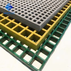 Retardante de chama as grades de fibra de vidro Square 50*50 Exterior drenar para a indústria