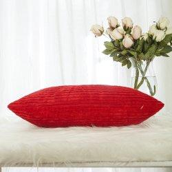 Rojo chino mango suave suave sofá de terciopelo lanzar almohada funda de cojín