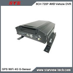 Video digitale mobile con sensore G 3G/4G AHD GPS WiFi A 8CH 720p Registratore