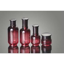 Estetiche che impaccano il vaso crema di vetro di colore rosso di vino della crema di cura di pelle