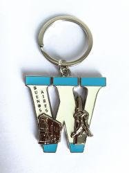 Qualitäts-Zeichen-Form Keychain Zink-Legierung/Stainess Stahlschlüsselhalter mit Ring