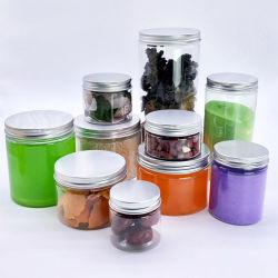 Voedsel Grade 100ml 150ml 200ml 300ml 400ml 500ml 750ml 1000ml Clear Pet Plastic Food Jar met Aluminum Plastic Screw Cap