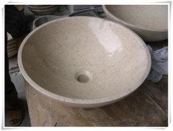 가장 싼 이집트 대리석 Galala 베이지색 크림 대리석 마루 도와 또는 물동이 또는 벽난로