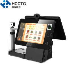 Hks10-ew double écran 15,6 pouces Windows Desktop POS Café Bar Restaurant La borne