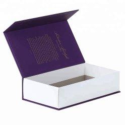 Contenitore di regalo di carta viola impresso marchio all'ingrosso del cartone del cliente di alta qualità