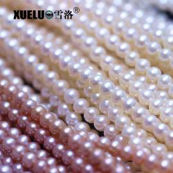 목걸이를 위한 Xueluo 5-6mm AAA 급료 고품질 완벽한 둥근 자연적인 경작된 진짜 민물 진주