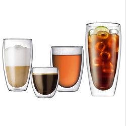 10oz/12oz/14oz/16oz Promotional-Gifts Cheap-Price en verre borosilicaté de gros des tasses à café tasse de bouteilles